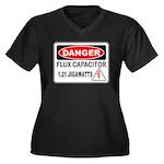 Danger FC Women's Plus Size V-Neck Dark T-Shirt