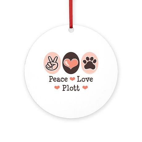 Peace Love Plott Ornament (Round)