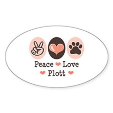 Peace Love Plott Oval Decal