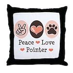 Peace Love Pointer Throw Pillow