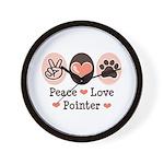 Peace Love Pointer Wall Clock