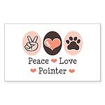 Peace Love Pointer Rectangle Sticker