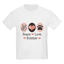 Peace Love Pointer T-Shirt