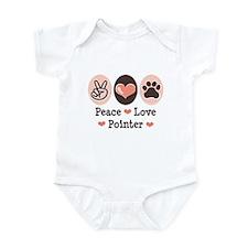 Peace Love Pointer Infant Bodysuit