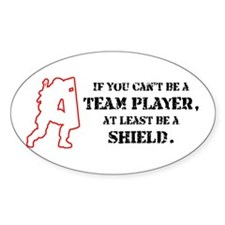 Team Player Oval Decal