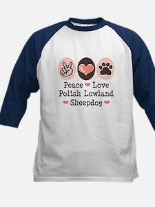 Peace Love Polish Lowland Sheepdog Tee