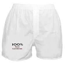 100 Percent Race Car Driver Boxer Shorts
