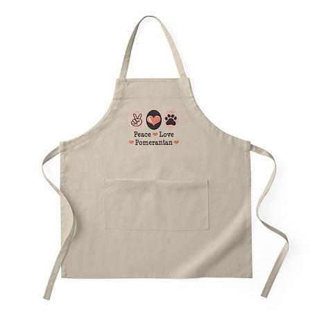 Peace Love Pomeranian BBQ Apron