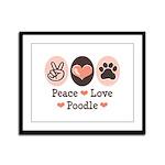 Peace Love Poodle Framed Panel Print