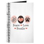 Peace Love Poodle Journal