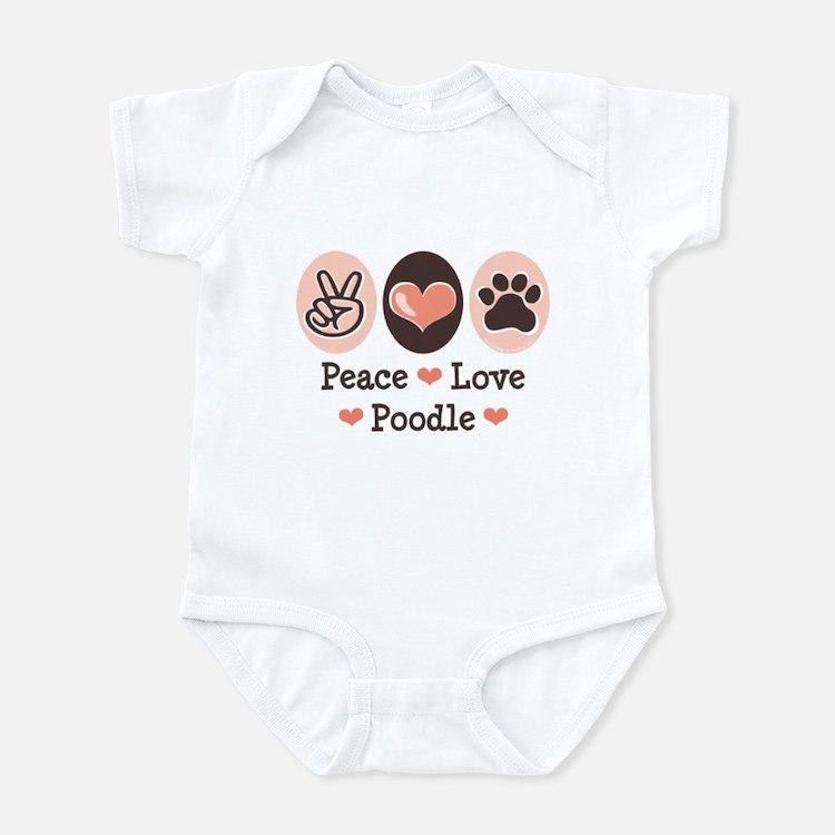 Peace Love Poodle Infant Bodysuit
