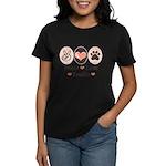 Peace Love Poodle Women's Dark T-Shirt