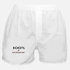 100 Percent R & D Scientist Boxer Shorts