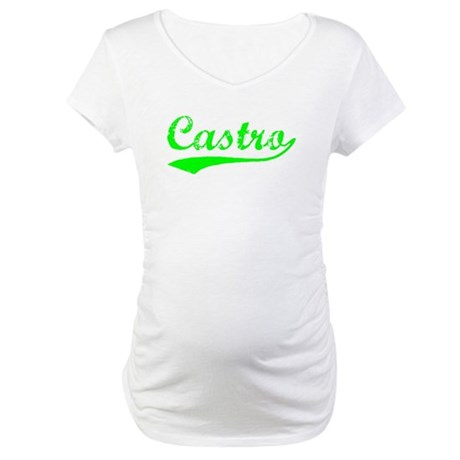 Vintage Castro (Green) Maternity T-Shirt