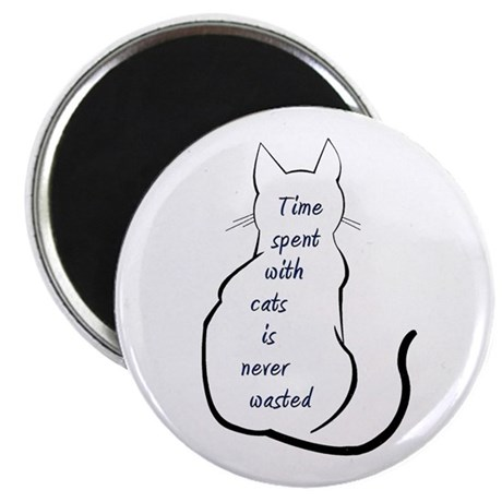 Time spent with Cats Magnet