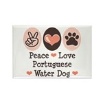 Peace Love Portuguese Water Dog Rectangle Magnet