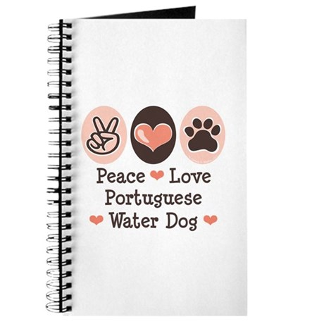 Peace Love Portuguese Water Dog Journal