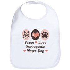 Peace Love Portuguese Water Dog Bib