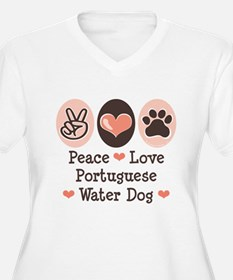 Peace Love Portuguese Water Dog T-Shirt