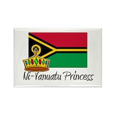 Ni-Vanuatu Princess Rectangle Magnet