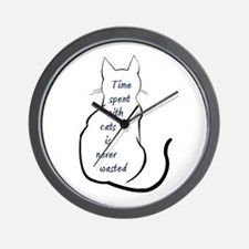 Time spent with Cats Wall Clock
