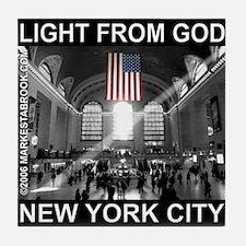 """""""Light From God"""" Tile Coaster"""