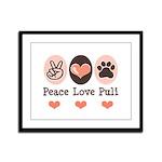 Peace Love Puli Framed Panel Print