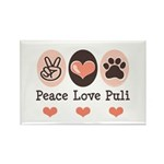 Peace Love Puli Rectangle Magnet (100 pack)