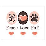 Peace Love Puli Small Poster