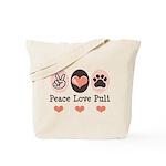 Peace Love Puli Tote Bag