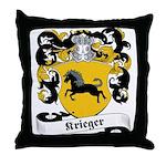 Krieger Family Crest Throw Pillow
