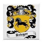 Krieger Family Crest Tile Coaster