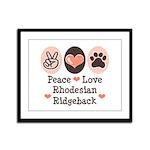 Peace Love Rhodesian Ridgeback Framed Panel Print