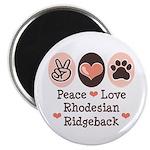 Peace Love Rhodesian Ridgeback 2.25