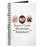 Peace Love Rhodesian Ridgeback Journal