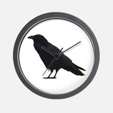 Black Crow Wall Clock