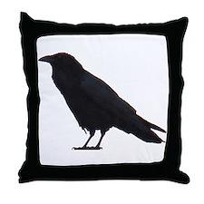 Black Crow Throw Pillow