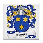 Kruger Family Crest Tile Coaster