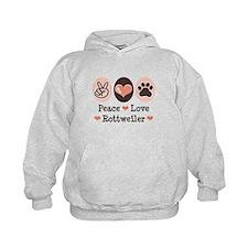 Peace Love Rottweiler Hoodie