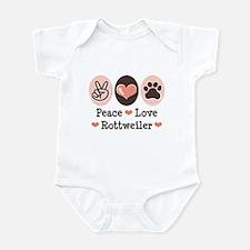 Peace Love Rottweiler Infant Bodysuit