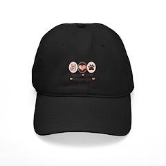 Peace Love Rottweiler Baseball Hat