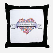 Love My Administrative Assistant Throw Pillow