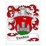 Landau Family Crest Small Poster
