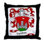 Landau Family Crest Throw Pillow