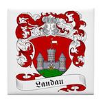 Landau Family Crest Tile Coaster