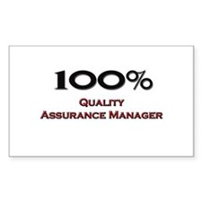 100 Percent Quality Assurance Manager Decal