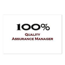 100 Percent Quality Assurance Manager Postcards (P