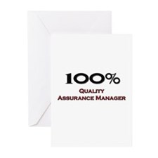 100 Percent Quality Assurance Manager Greeting Car