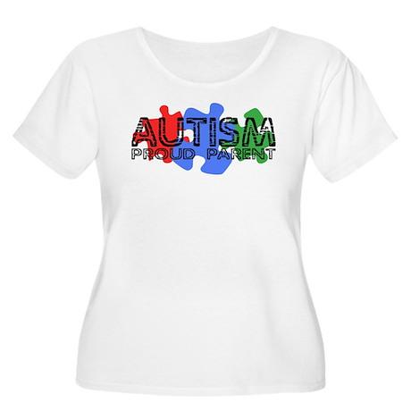 Autism - Proud Parent Women's Plus Size Scoop Neck