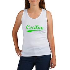 Vintage Cecilia (Green) Women's Tank Top